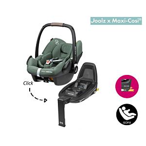 SET   Autostoel Maxi-Cosi X Joolz - Pebble Pro I-Size Green met Isofixbase